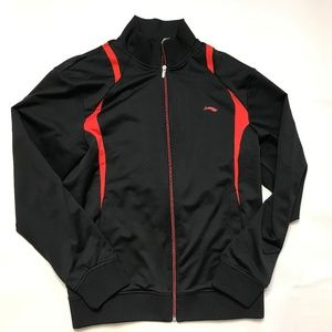 Li-Ning Badminton Jacket  Black Red Full Zip